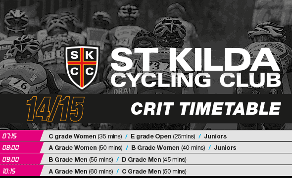 SKCC Crits Timetable 2015