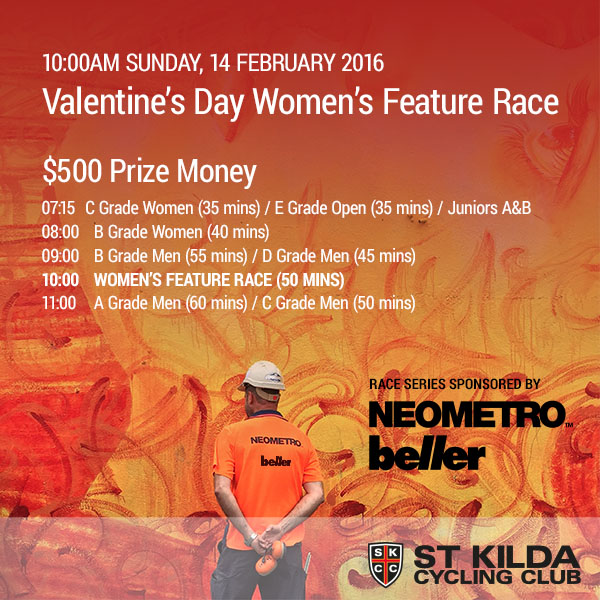 Valentine's Day Women's Feature Race 10:00am