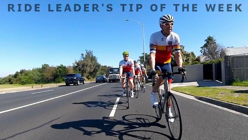 Ride leader's tip of the week #1