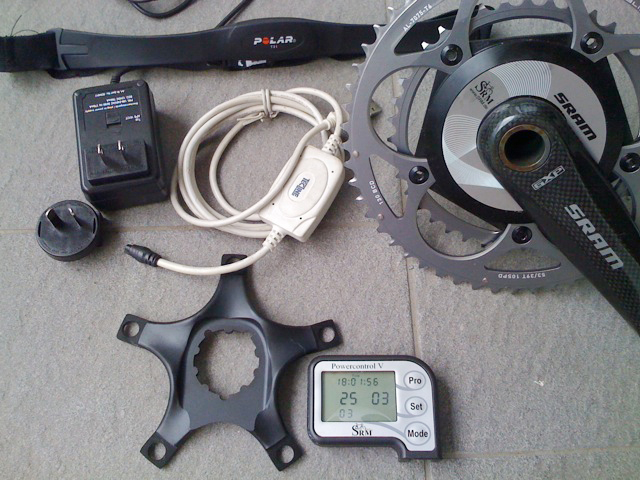 2009 SRAM SRM system w 175mm carbon cranks